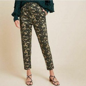 NWT Amandi (Anthropologie) Floral Camo Trousers Sm